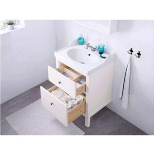 ХЕМНЭС Шкаф для раковины с 2 ящ белый 60x47x83 см - Артикул: 303.690.20