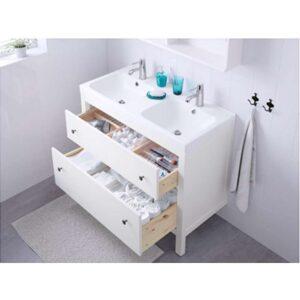 ХЕМНЭС Шкаф для раковины с 2 ящ белый 100x47x83 см - Артикул: 703.690.18