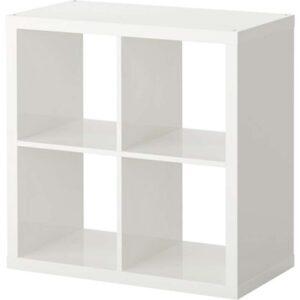 КАЛЛАКС Стеллаж глянцевый белый 77x77 см - Артикул: 803.788.28