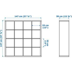 КАЛЛАКС Стеллаж глянцевый белый 147x147 см - Артикул: 603.788.29
