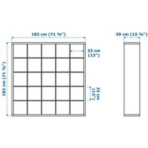 КАЛЛАКС Стеллаж белый 182x182 см - Артикул: 303.795.71