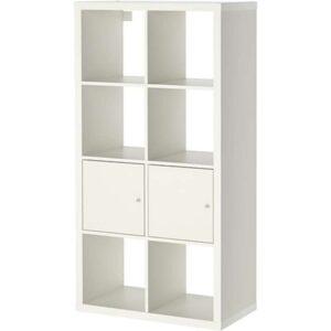КАЛЛАКС Стеллаж с 2 вставками белый 77x147 см - Артикул: 892.268.97
