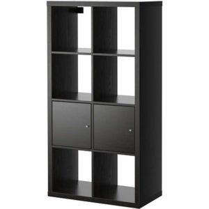 КАЛЛАКС Стеллаж с 2 вставками черно-коричневый 77x147 см - Артикул: 092.268.96