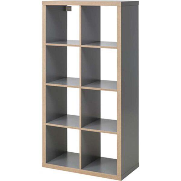 КАЛЛАКС Стеллаж серый/под дерево 77x147 см - Артикул: 303.791.18