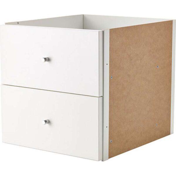 КАЛЛАКС Вставка с 2 ящиками белый 33x33 см - Артикул: 903.795.54