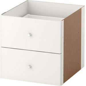 КАЛЛАКС Вставка с 2 ящиками глянцевый белый 33x33 см - Артикул: 503.795.46