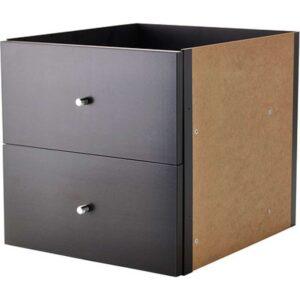 КАЛЛАКС Вставка с 2 ящиками черно-коричневый 33x33 см - Артикул: 103.795.53