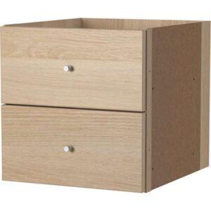 КАЛЛАКС Вставка с 2 ящиками под беленый дуб 33x33 см - Артикул: 303.795.47