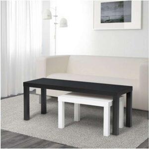 ЛАКК Комплект столов 2 шт черный/белый - Артикул: 003.798.55
