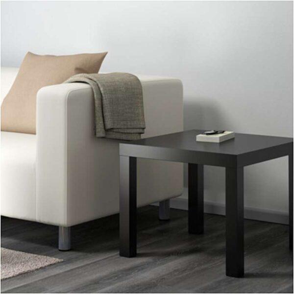 ЛАКК Придиванный столик черный 55x55 см - Артикул: 903.832.35