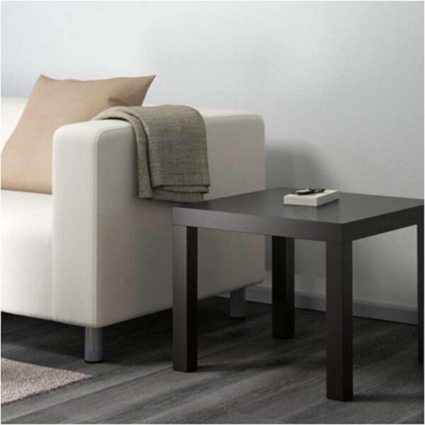 ЛАКК Придиванный столик черно-коричневый 55x55 см - Артикул: 803.832.31