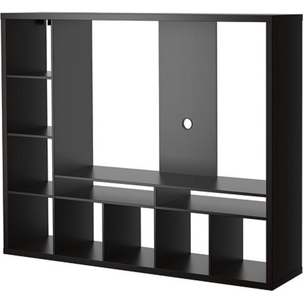 ЛАППЛАНД Шкаф для ТВ черно-коричневый 183x39x147 см - Артикул: 303.564.66