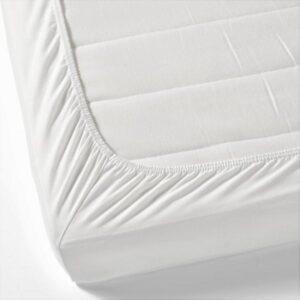 ЛЕН Натяжн простыня д/разд кровати,2шт, белый. Артикул: 603.662.23