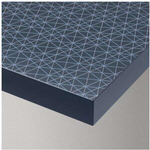 ЛИННМОН Столешница геометрический синий черно-синий | 903.554.97