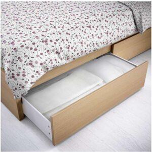 МАЛЬМ Ящик д/высокого каркаса кровати дубовый шпон, беленый 200 см - Артикул: 203.691.48