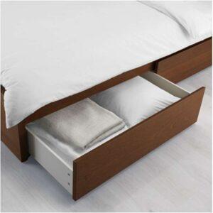 МАЛЬМ Ящик д/высокого каркаса кровати коричневая морилка ясеневый шпон 200 см - Артикул: 103.799.92
