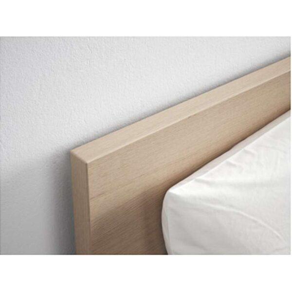 МАЛЬМ Каркас кровати, высокий, дубовый шпон, беленый 180x200 см. Артикул: 992.109.71