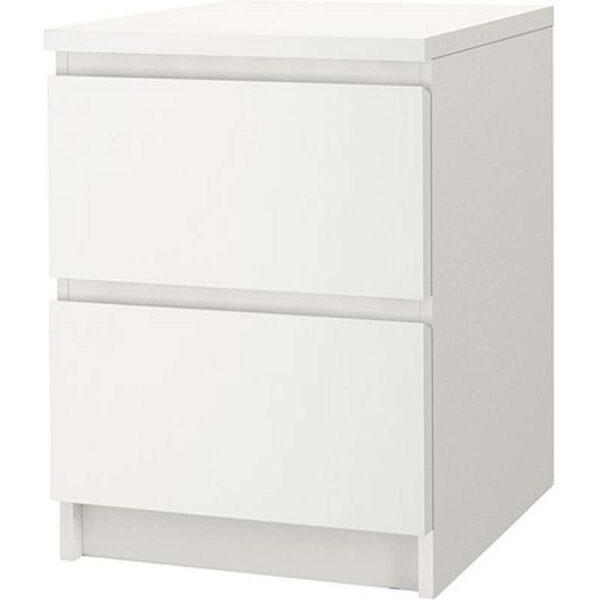 МАЛЬМ Комод с 2 ящиками белый 40x55 см -003.685.31