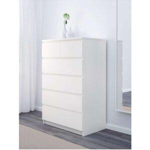 МАЛЬМ Комод с 6 ящиками белый 80x123 см - Артикул: 103.685.97