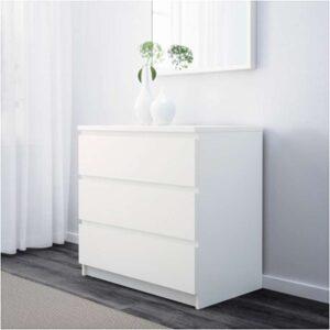 МАЛЬМ Комод с 3 ящиками белый 80x78 см - Артикул: 503.685.38