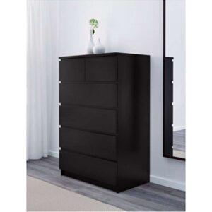 МАЛЬМ Комод с 6 ящиками черно-коричневый 80x123 см - Артикул: 503.685.95