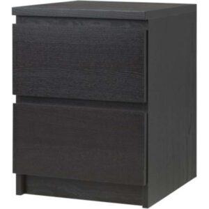 МАЛЬМ Комод с 2 ящиками черно-коричневый 40x55 см - Артикул: 003.685.26