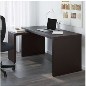 МАЛЬМ Письменный стол с выдвижной панелью черно-коричневый 151x65 см - Артикул: 803.848.67