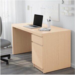 МАЛЬМ Письменный стол дубовый шпон, беленый 140x65 см - Артикул: 503.599.73