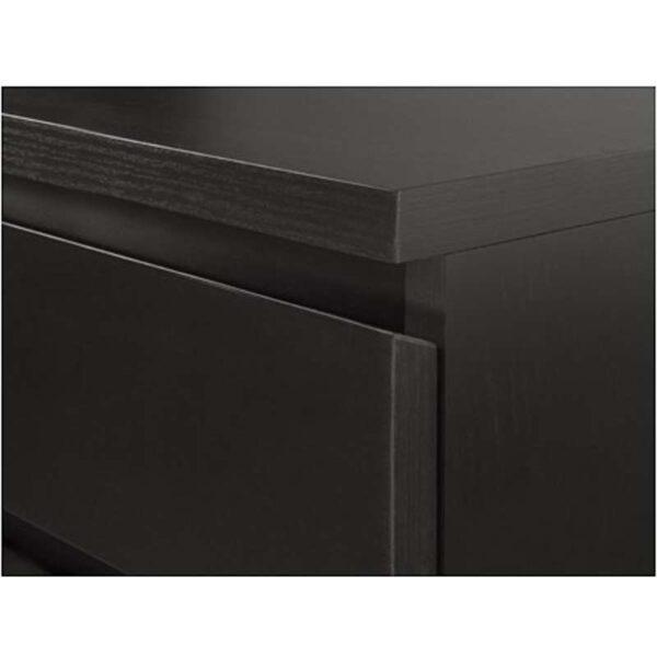 МАЛЬМ Тумба с ящиками на колесах черно-коричневый 42x59 см - Артикул: 403.789.05