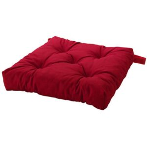 МАЛИНДА Подушка на стул красный 40/35x38x7 см - Артикул: 503.699.34