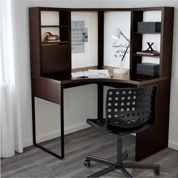 МИККЕ Рабочее место, угловое черно-коричневый 100x142 см - Артикул: 403.739.17