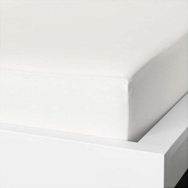 НАТТЭСМИН Простыня натяжная, белый 180x200 см. Артикул: 403.494.56