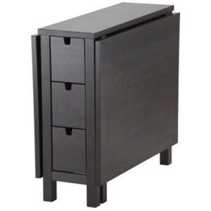 НОРДЕН Стол складной коричнево-чёрный 26/87/148x80 см - Артикул: 602.522.45