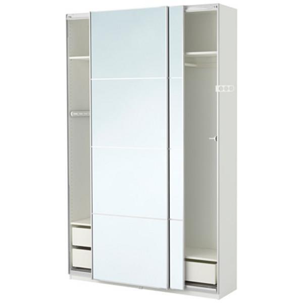 ПАКС Гардероб белый/Аули зеркальное стекло 150x44x236 см - Артикул: 390.294.65
