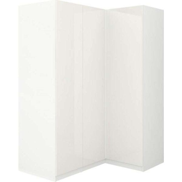 ПАКС Гардероб угловой белый/Фардаль глянцевый/белый 160/111x201 см - Артикул: 992.179.63