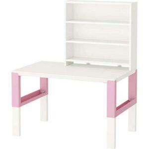 ПОЛЬ Письменн стол с полками белый/розовый 96x58 см - Артикул: 792.512.79