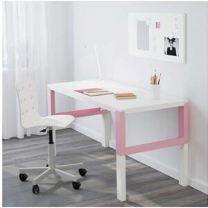 ПОЛЬ Письменный стол белый/розовый 128x58 см - Артикул: 992.512.59