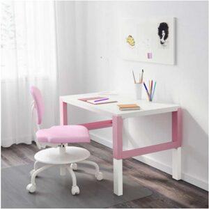 ПОЛЬ Письменный стол белый/розовый 96x58 см - Артикул: 192.512.63