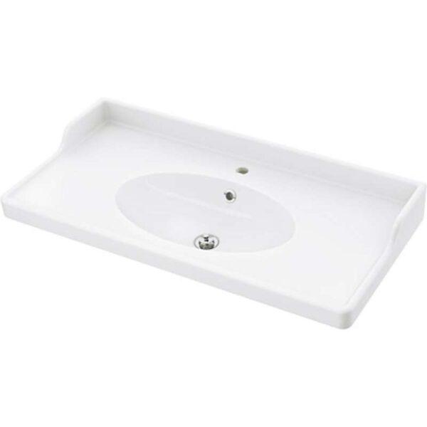 РЭТТВИКЕН Одинарная раковина белый 102x49x6 см - Артикул: 603.690.52