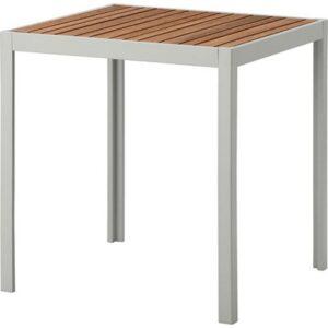 ШЭЛЛАНД Садовый стол, светло-коричневый, светло-серый - 71x71x73 см > Артикул: 592.624.34