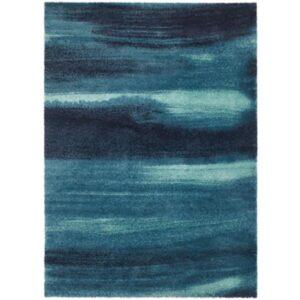 СЁНДЕРЁД Ковер, длинный ворс синий 170x240 см - Артикул: 603.648.94