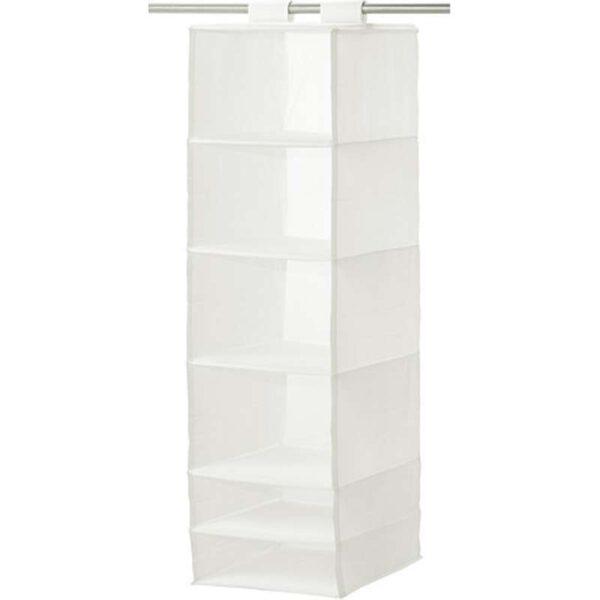 СКУББ Модуль для хранения с 6 отделениями белый 35x45x125 см - Артикул: 603.750.67