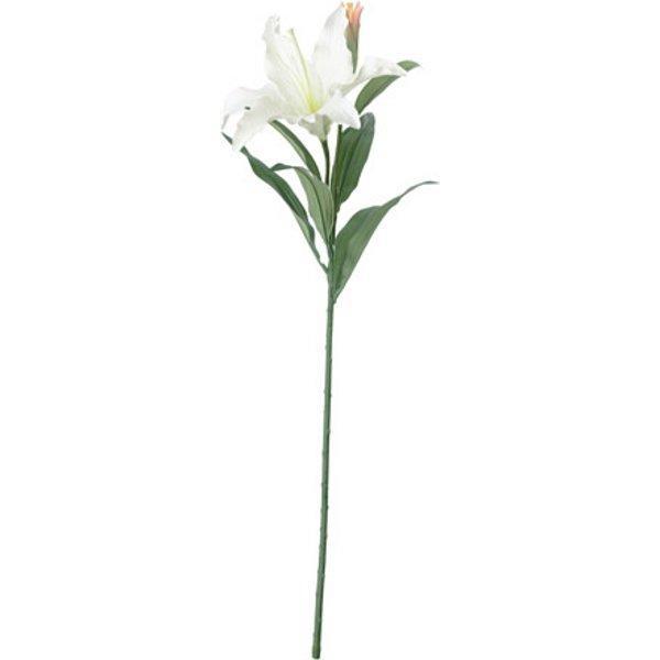 СМИККА Цветок искусственный лилия/белый 85 см - Артикул: 103.718.49