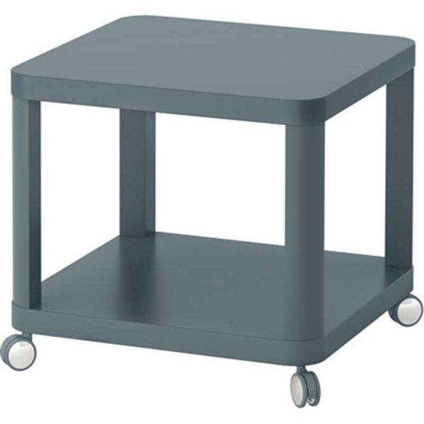 ТИНГБИ Стол приставной на колесиках бирюзовый 50x50 см - Артикул: 503.600.47