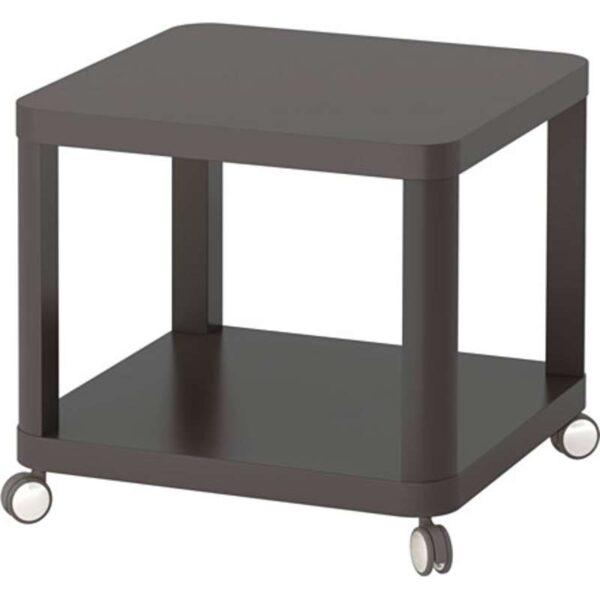 ТИНГБИ Стол приставной на колесиках серый 50x50 см - Артикул: 703.600.46