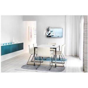 ТОРСБИ Стол хромированный/стекло белый 120x70 см - Артикул: 490.996.22
