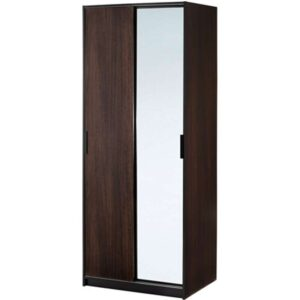 ТРИСИЛ Гардероб темно-коричневый/зеркальное стекло 79x61x202 см - Артикул: 703.697.87