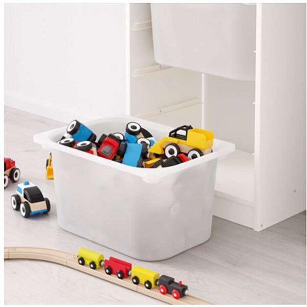 ТРУФАСТ Комбинация д/хранения+контейнерами белый/белый 46x30x145 см - Артикул: 492.222.12