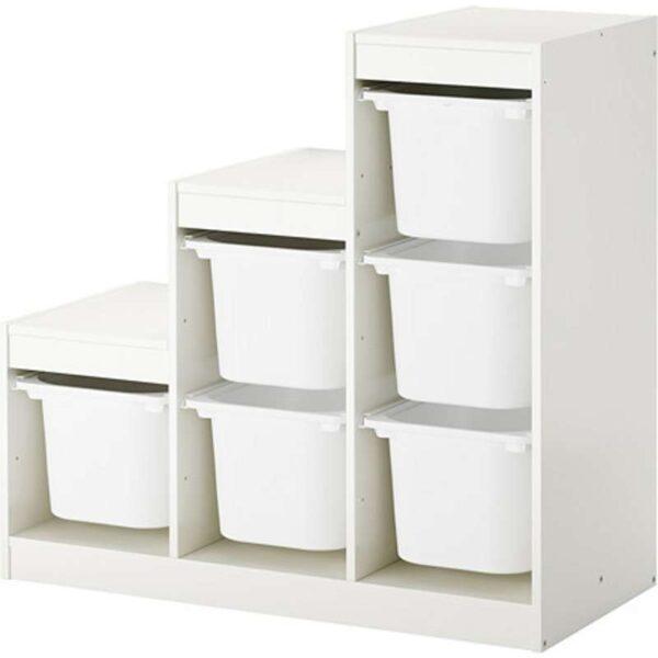 ТРУФАСТ Комбинация д/хранения+контейнерами белый 99x44x94 см - Артикул: 092.221.29