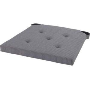 ЮСТИНА Подушка на стул серый 35/42x40x4.0 см - Артикул: 103.557.45